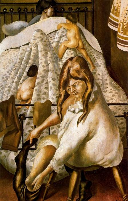 睡觉 通过 Stanley Spencer (1891-1959, United Kingdom)