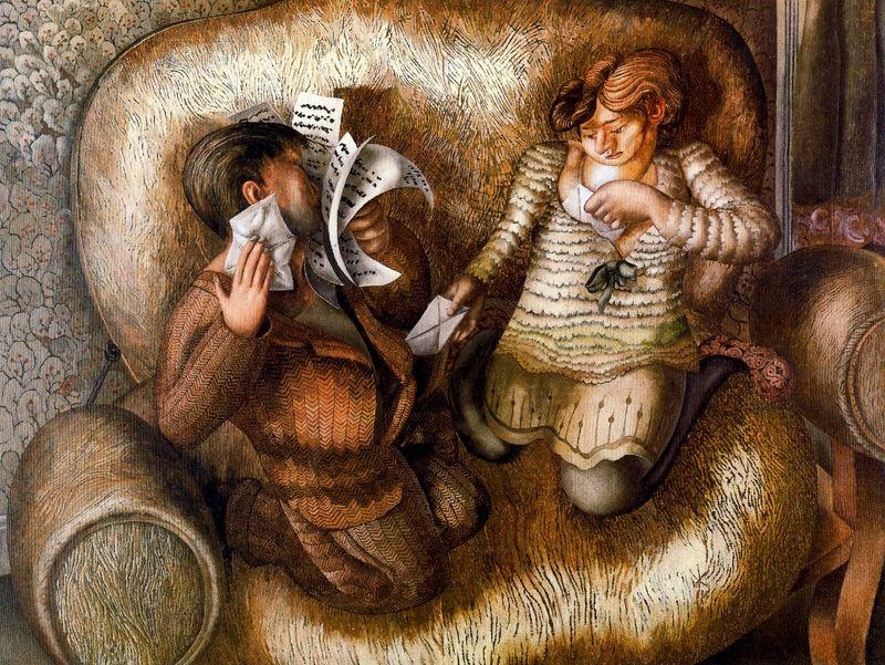 爱 快报 通过 Stanley Spencer (1891-1959, United Kingdom)