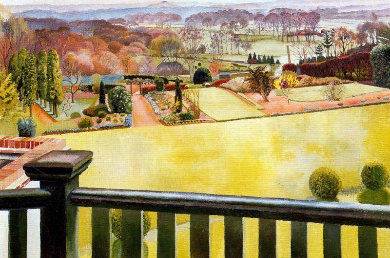 牛津郡景观 通过 Stanley Spencer (1891-1959, United Kingdom) | ArtsDot.com