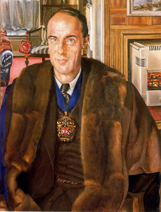 肖像 j.e. `martineau` 通过 Stanley Spencer (1891-1959, United Kingdom) | ArtsDot.com
