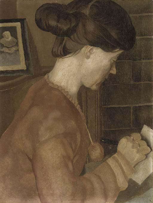 肖像夫人CP格兰特 通过 Stanley Spencer (1891-1959, United Kingdom)