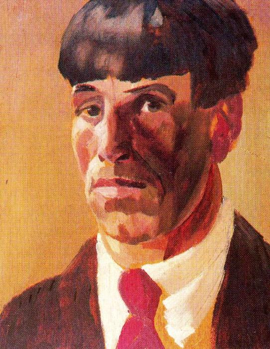 """自画像 通过 Stanley Spencer (1891-1959, United Kingdom)"