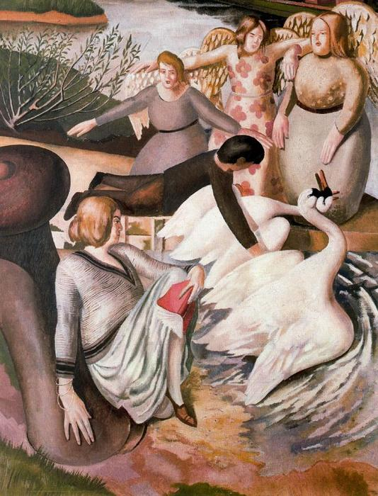 分离战斗惠威 通过 Stanley Spencer (1891-1959, United Kingdom)