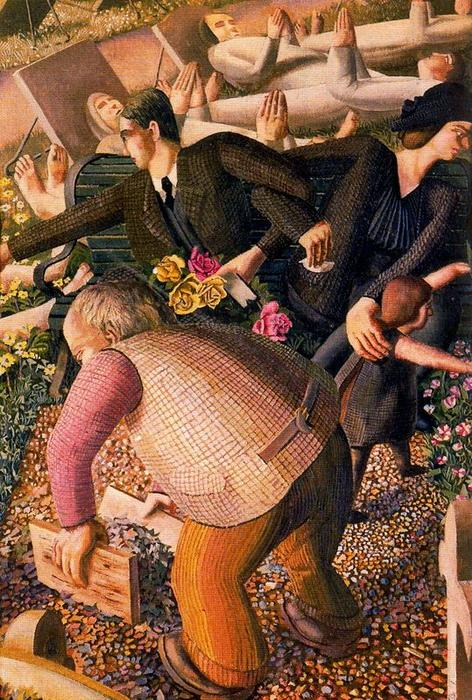 复活。醒来1 通过 Stanley Spencer (1891-1959, United Kingdom) | ArtsDot.com