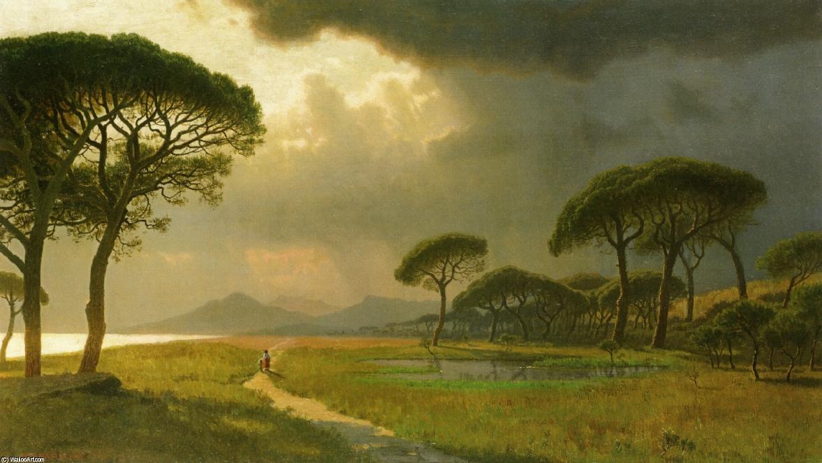 晨光,罗马平原, 油画 通过 william stanley haseltine (1835-1900
