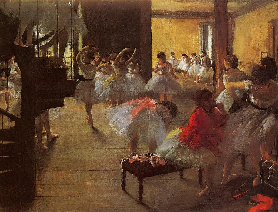 舞蹈课, 1873 通过 Edgar Degas (1834-1917, France) | 油畫 Edgar Degas | ArtsDot.com