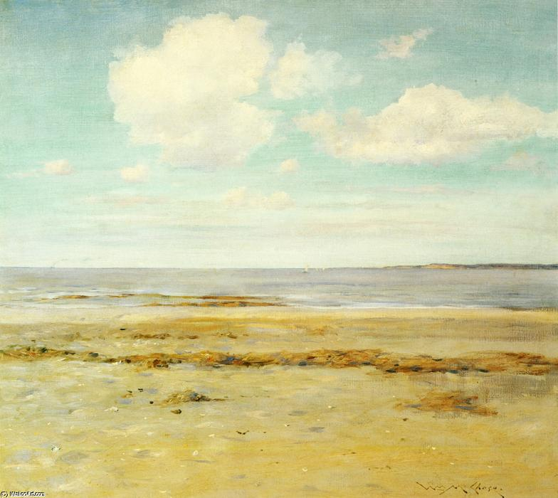在荒凉的海滩, 油画 通过 William Merritt Chase (1849-1916, United States)