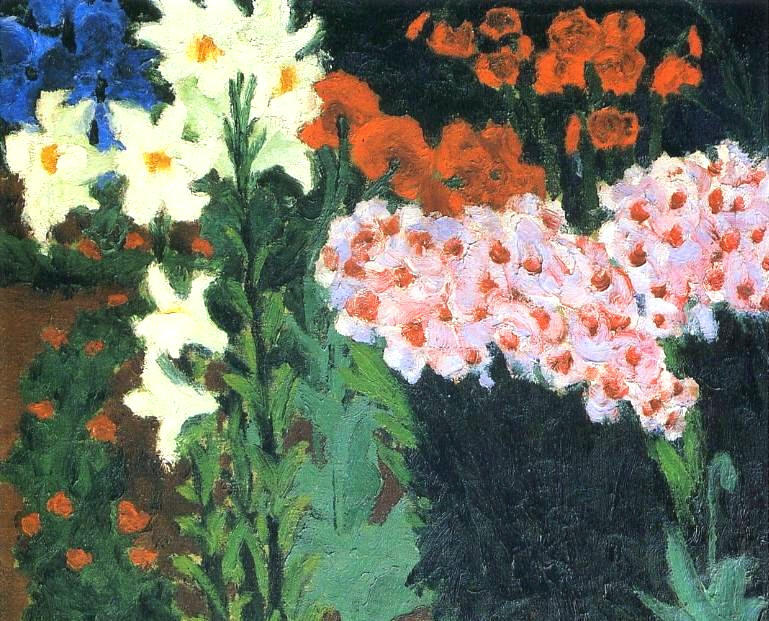 花  花园, 1913 通过 Emile Nolde (1867-1956, Germany) | 畫再現 | ArtsDot.com