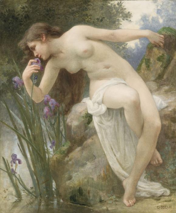 香山虹膜 通过 Guillaume Seignac (1870-1924, France)