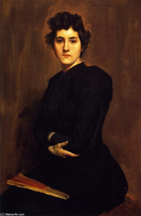williamchase_( 也被称为 一个 女士 在 黑色 ), 油画 通过 william merritt chase