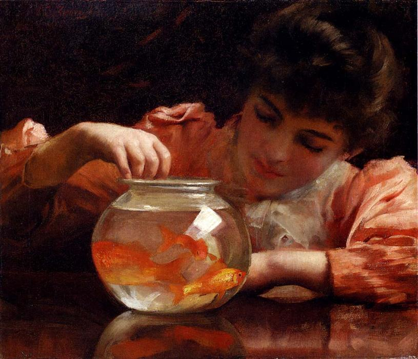 空闲时间 通过 Thomas Benjamin Kennington (1856-1916, United Kingdom) | 傑作拷貝 | ArtsDot.com