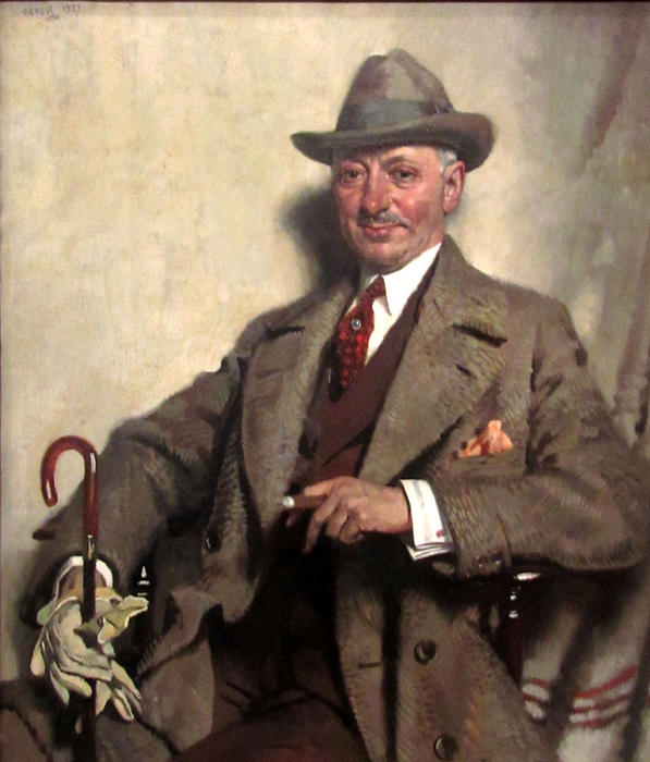雅各布爱泼斯坦, 1927 通过 William Newenham Montague Orpen (1878-1931, Ireland)