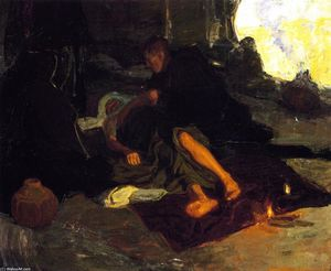 Henry Ossawa Tanner - 工作  和他的  三 `friends`