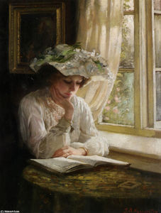 Thomas Benjamin Kennington -  女士  阅读  由  窗口