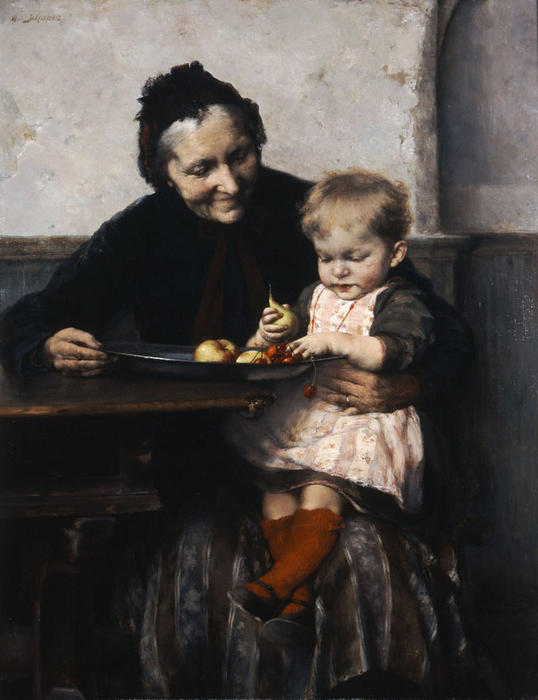 奶奶的最爱, 1893 通过 Georgios Jakobides (1853-1932, Turkey) | 畫再現 | ArtsDot.com