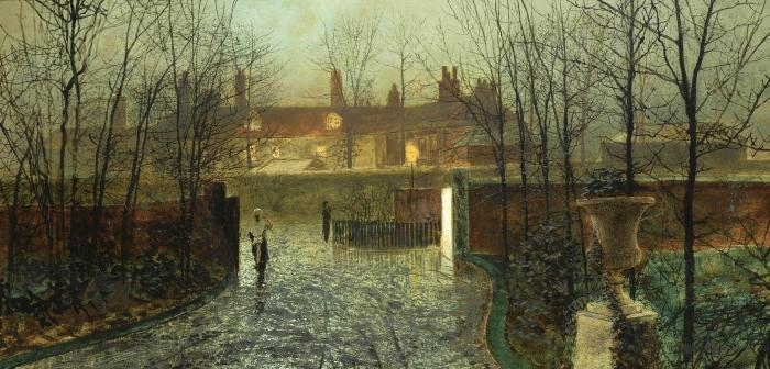 到达 在  的  大厅 , 油 通过 John Atkinson Grimshaw (1836-1893, United Kingdom)