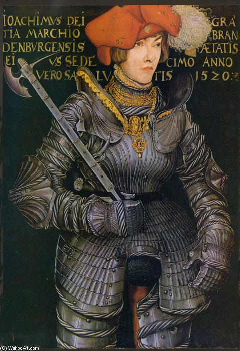 肖像约阿希姆二世, 油 通过 Lucas Cranach The Elder (1472-1553, Germany)