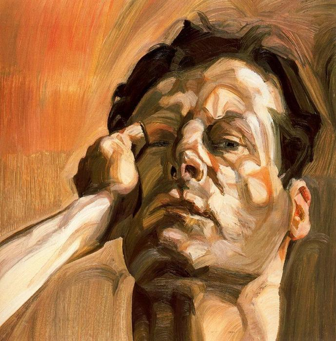 顺序 幀打印 : man`s` 头, 自画像, 1963 通过 Lucian Freud (1922-2011, Germany) | ArtsDot.com