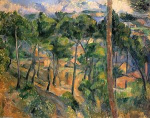 Paul Cezanne - L-Estaque 通过查看 松树