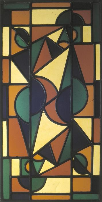 舞蹈II, 1917 通过 Theo Van Doesburg (1883-1931, Netherlands)