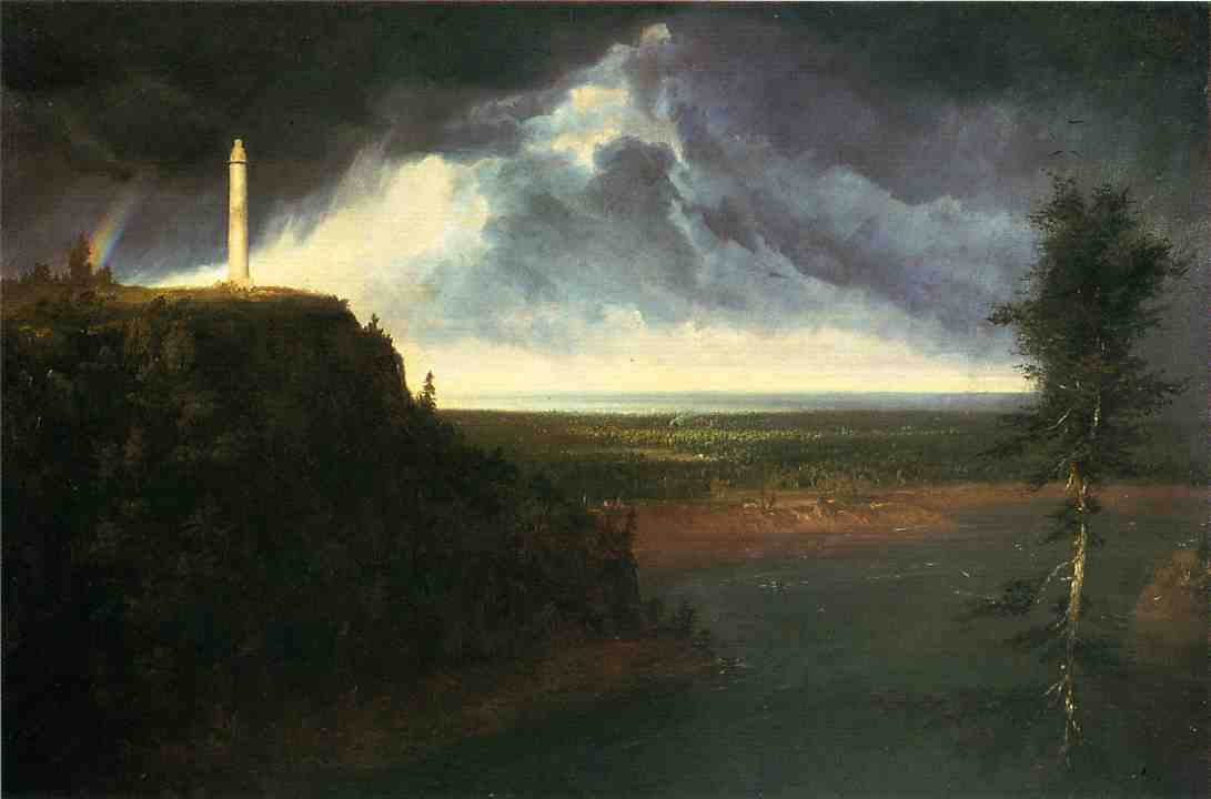 Brock`s-Monument, 油画 通过 Thomas Cole (1801-1848, United Kingdom)