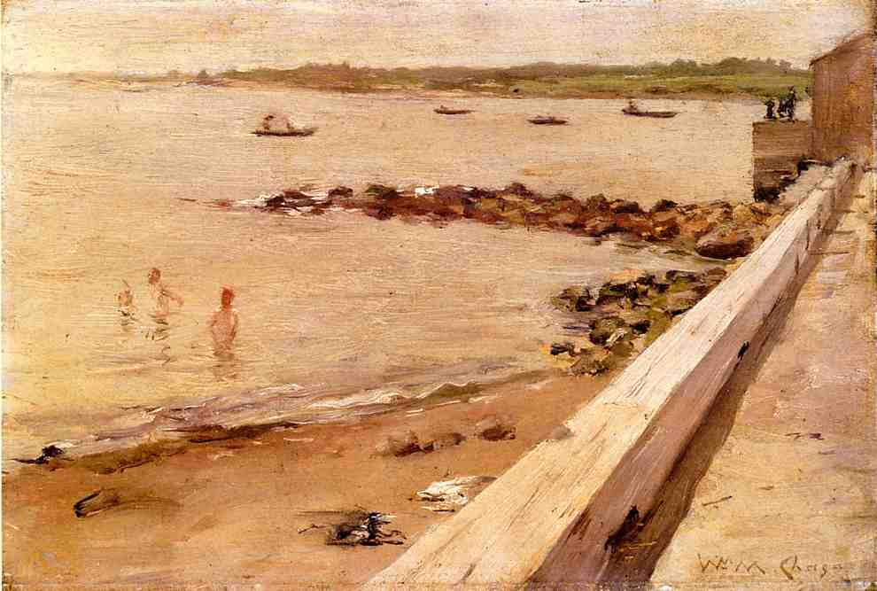 的  泳客 通过 William Merritt Chase (1849-1916, United States)