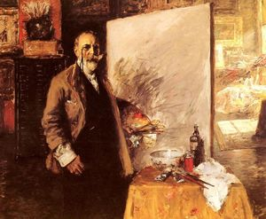 William Merritt Chase - 自画像