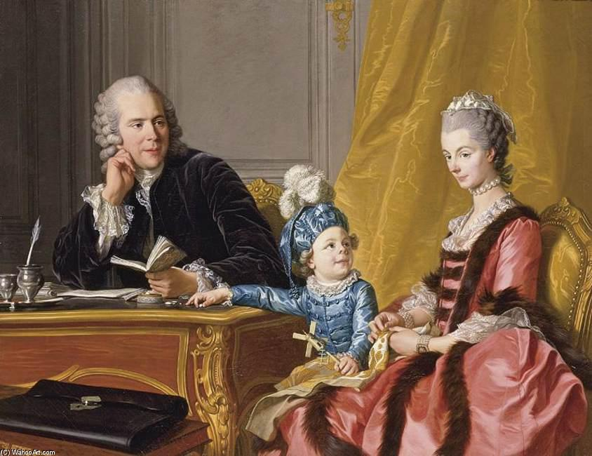 该家庭德文, 1767 通过 Louis Michel Van Loo (1707-1771, France) | 幀打印 | ArtsDot.com