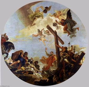 Giovanni Battista Tiepolo - 发现 的  的  真正  跨