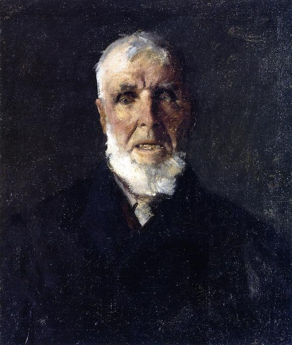 长岛渔民, 油画 通过 William Merritt Chase (1849-1916, United States)