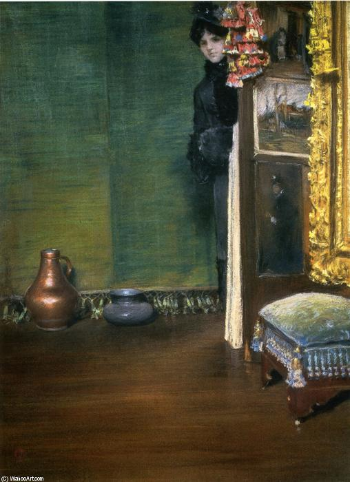 我可以进来吗?, 绘画 通过 William Merritt Chase (1849-1916, United States)