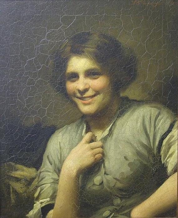 莫莉,客栈的女仆 通过 Thomas Benjamin Kennington (1856-1916, United Kingdom)