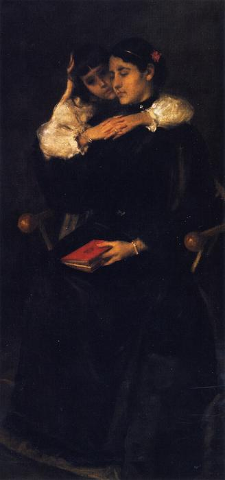 母亲  和  孩子 ( 也被称为 Mother's 洛 ), 1892 通过 William Merritt Chase (1849-1916, United States) | ArtsDot.com
