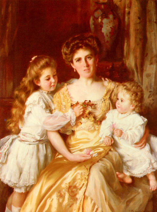 母亲的爱 通过 Thomas Benjamin Kennington (1856-1916, United Kingdom)