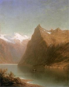 John William Casilear - 山  湖 场景