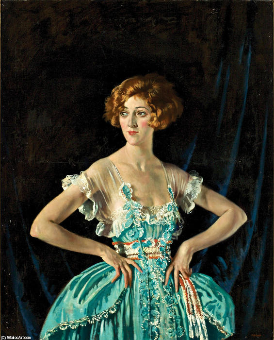 红宝石夫人梅尔维尔, 1920 通过 William Newenham Montague Orpen (1878-1931, Ireland)