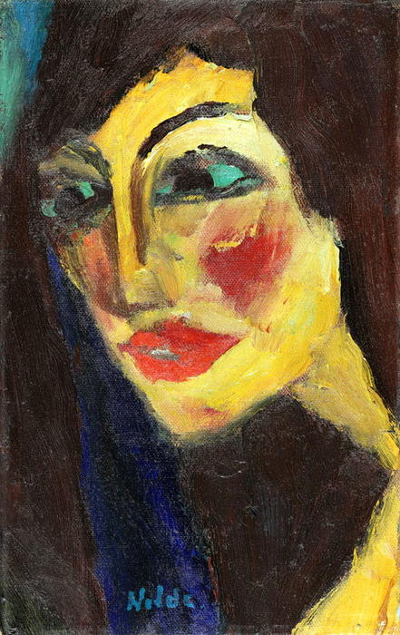 娜嘉, 1919 通过 Emile Nolde (1867-1956, Germany)