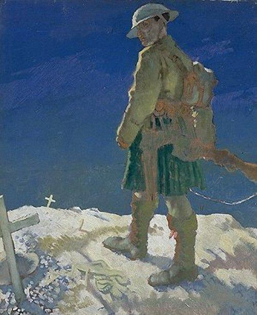 在法国旁观者, 1921 通过 William Newenham Montague Orpen (1878-1931, Ireland) | 幀打印 | ArtsDot.com