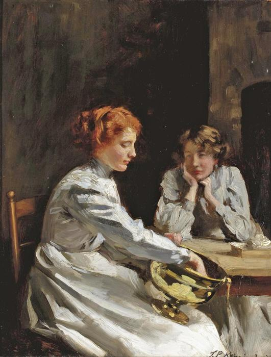 抛光黄铜 通过 Thomas Benjamin Kennington (1856-1916, United Kingdom)