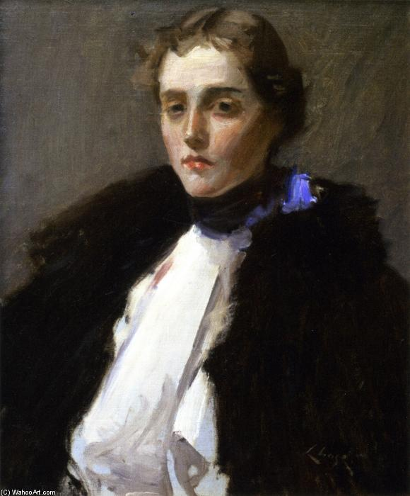 肖像弗拉达纳, 油画 通过 William Merritt Chase (1849-1916, United States)
