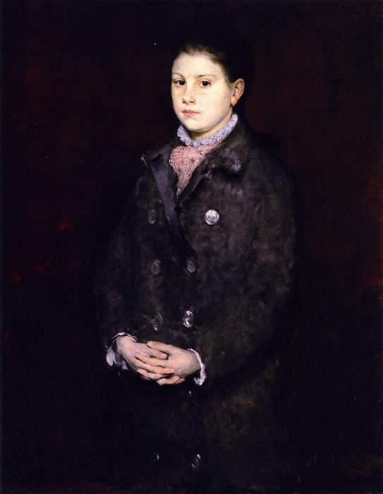 肖像  年轻  女士, 油画 通过 William Merritt Chase (1849-1916, United States)