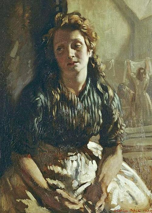 休息, 油画 通过 William Newenham Montague Orpen (1878-1931, Ireland)