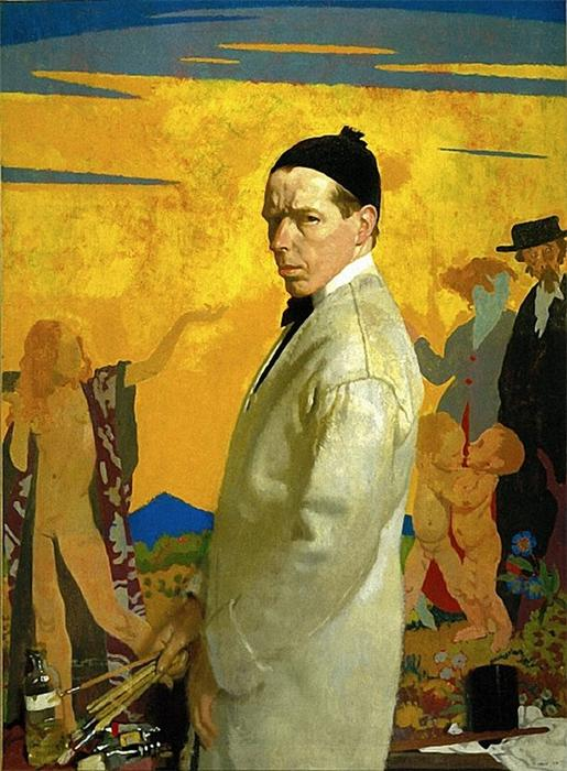 自拍, 1913 通过 William Newenham Montague Orpen (1878-1931, Ireland)