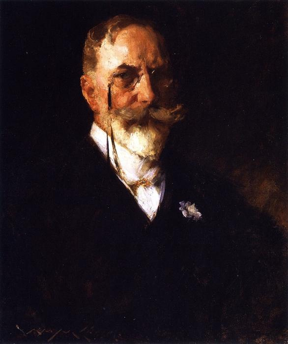 自画像, 油画 通过 William Merritt Chase (1849-1916, United States)