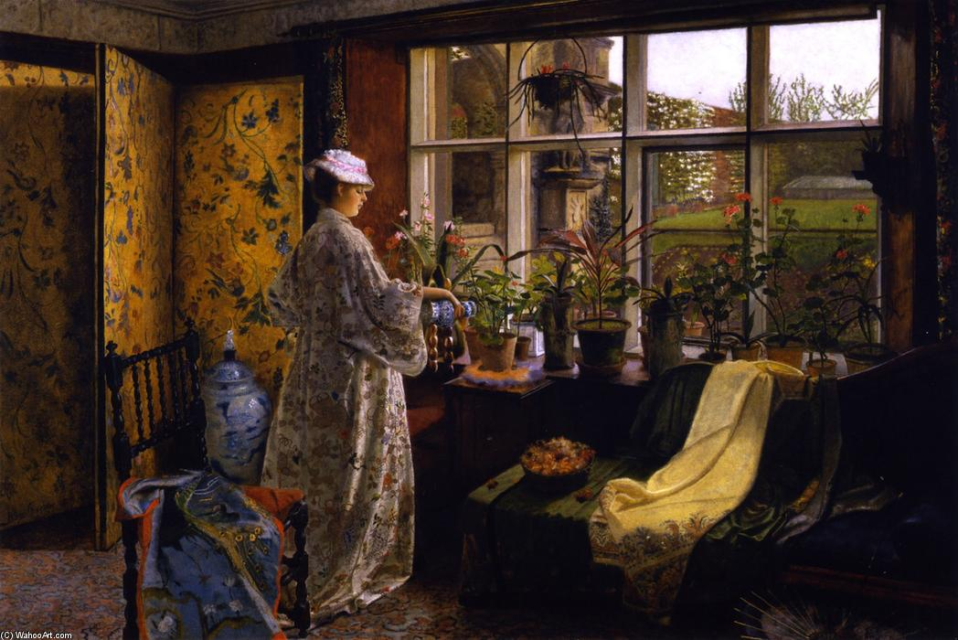 """春秋 通过 John Atkinson Grimshaw (1836-1893, United Kingdom)"