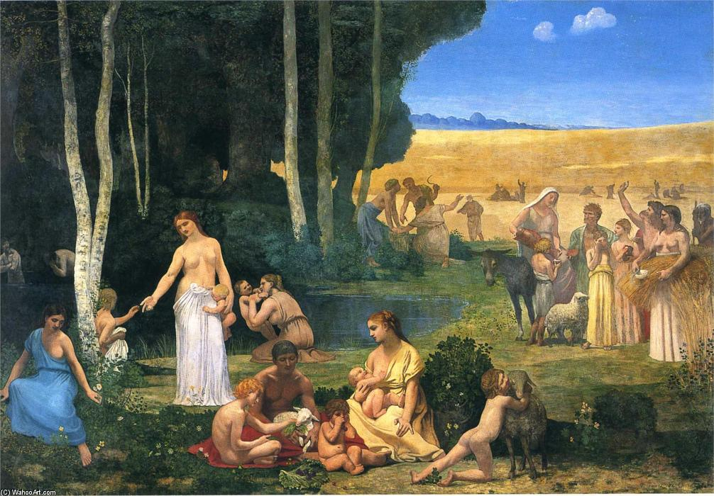 夏天 通过 Pierre Puvis De Chavannes (1824-1898, France)