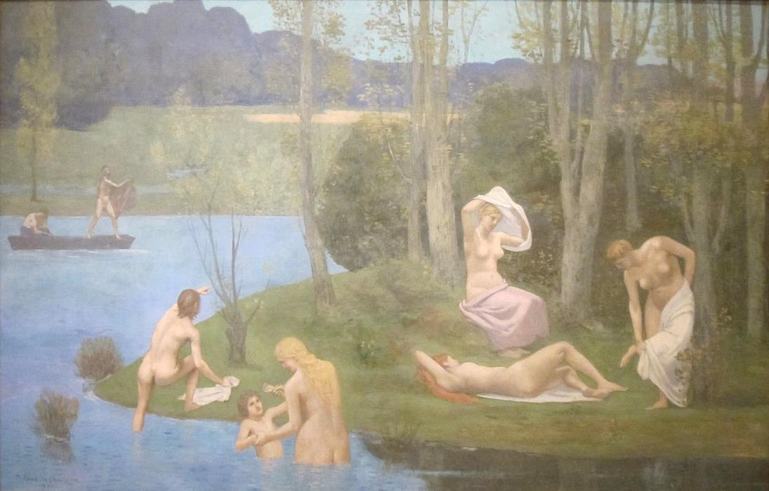 夏, 1891 通过 Pierre Puvis De Chavannes (1824-1898, France)
