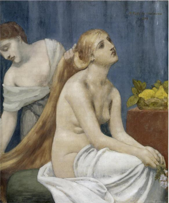 的  香水 通过 Pierre Puvis De Chavannes (1824-1898, France)