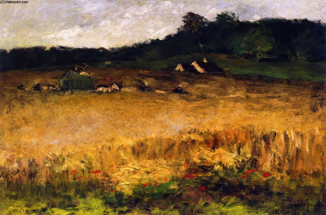 麦田, 油画 通过 William Merritt Chase (1849-1916, United States)