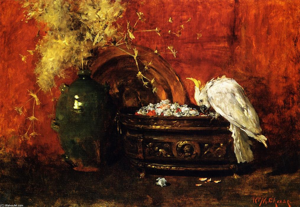 白凤头鹦鹉, 1880 通过 William Merritt Chase (1849-1916, United States) | 幀畫冊專輯 | ArtsDot.com